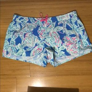 Lilly Pulitzer Into The Deep Luxletic Shorts rare